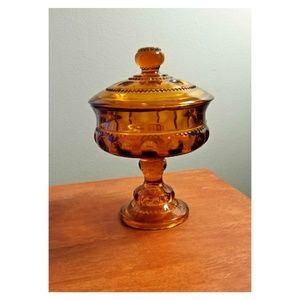 Vintage Amber Candy Dish - Beautiful Item!